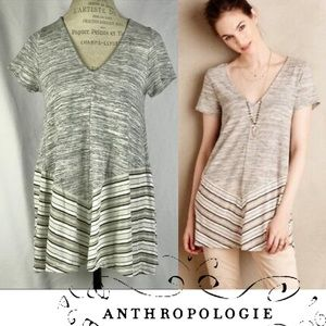 Anthropologie Puella Southward Striped Swing Top